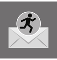 sihouette man running email vector image vector image