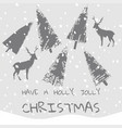 slogan have a holly jolly christmas xmas vector image vector image