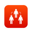 social network icon digital red vector image