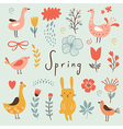 Spring collection elements vector image vector image