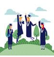 students graduation cartoons vector image vector image