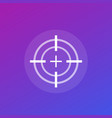 target or crosshair icon vector image vector image