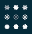this is a set grunge icons snowflakes vector image