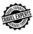 travel experts rubber stamp vector image vector image