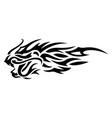 tribal tattoo art with black dragon head vector image vector image