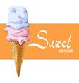 Vanilla strawberry ice cream vector image vector image