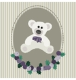 Vintage greeting card with white bear vector image vector image