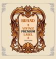 vintage premium label ornaments vector image