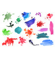 Watercolor splatters collection vector image
