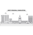 west virginia charleston architecture line vector image vector image
