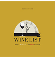 Wine List Menu vector image vector image