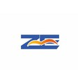 zb logo vector image vector image