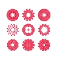 Red snowflakes and Christmas stars vector image