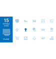 15 plane icons vector image vector image