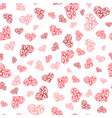 abstract lace hearts seamless pattern vector image