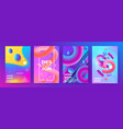 abstract poster memphis geometric banners vector image vector image
