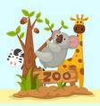 animal zoo vector image vector image