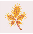 autumn yellow chestnut tree leaf isolated vector image vector image