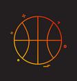 basket ball icon design vector image vector image