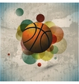 Basketball Advertising poster vector image vector image