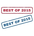 Best Of 2015 Rubber Stamps vector image vector image