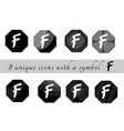 black and white buttons with symbol black and vector image vector image
