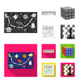 board game monochromeflat icons in set collection vector image vector image