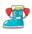 boxing winter boot shoe in shape cartoon vector image