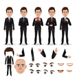 business man with parts body vector image
