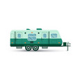 camping trailer flat icon vector image vector image
