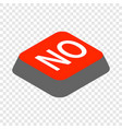 click no button isometric icon vector image vector image