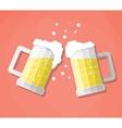 clink beer mugs vector image