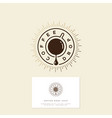 Coffee drop cafe flat icon business card