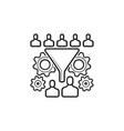 conversion funnel hand drawn outline doodle icon vector image