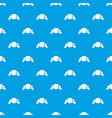 croissant pattern seamless blue vector image vector image