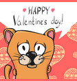 cute valentine postcard vector image vector image