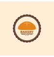 Delicious bakery label vector image vector image