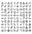 Doodle toys icon set vector image