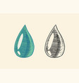 dripping drop olive oil blob or dribble or vector image vector image