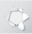 explosion paper hole vector image vector image