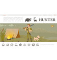 flat hunting website template vector image vector image