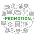 flat lines for presentation promotion vector image