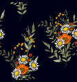floral for fashion fabric surface and textile vector image