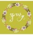 floral frame beautiful wreath made hand drawn vector image
