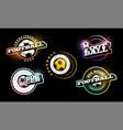football logo set modern professional typography vector image vector image