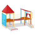 game place with rope and hill playground vector image vector image