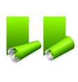 Green sticker with curled up edge vector image vector image