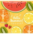 Hello Summer strawberry vector image vector image