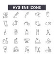 hygiene line icons for web and mobile design vector image vector image