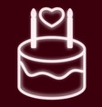 image of a birthday cake vector image vector image